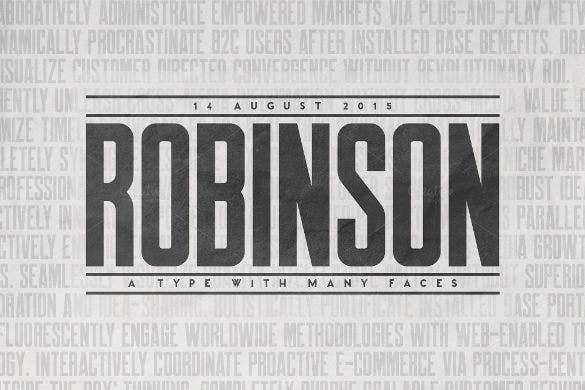 robinson newspaper headline sample template download