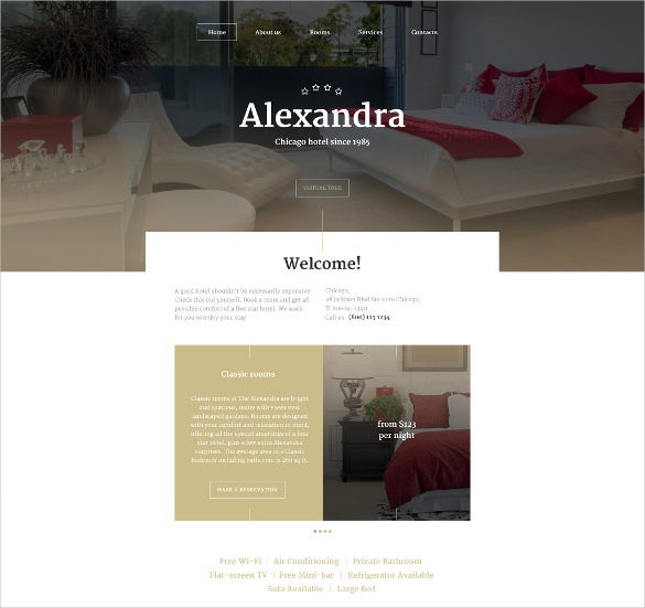 aleksandra website html5 template