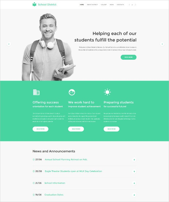 education responsive website html5 template