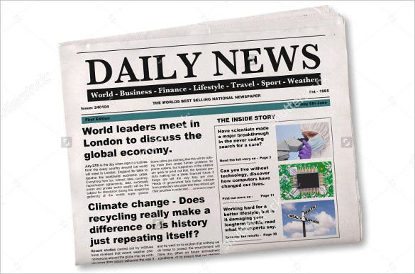 15 Newspaper Headline Templates Free Sample Example Format – Newspaper Headline Template