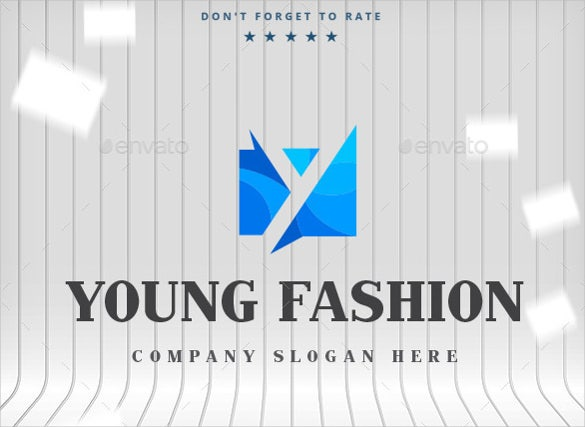 young fashion logo template