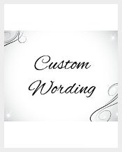 Custom Wording for the existing wedding