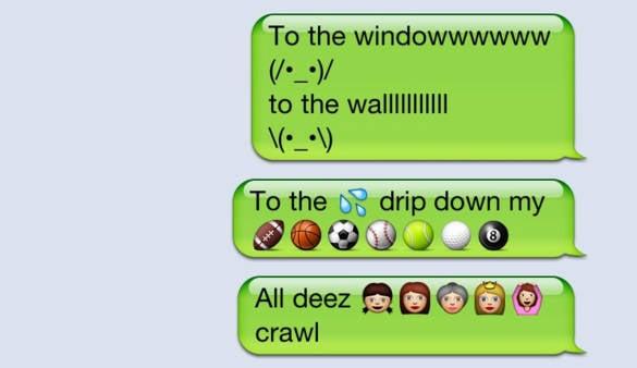 funny emoji lil jon text4