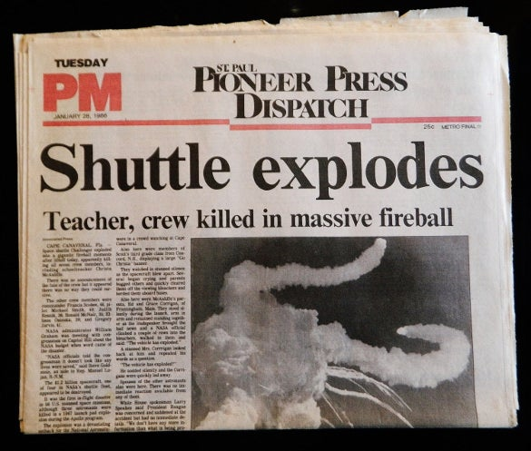 shuttle explodes newspaper headline example template download