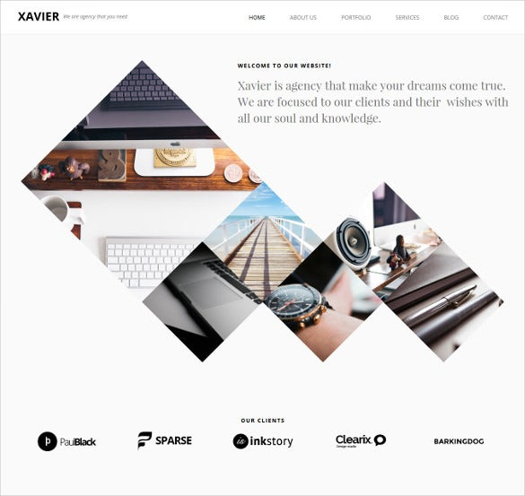 xavier portfolio and agency html5 theme