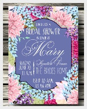Beautiful Bridal Shower Wedding Invitation