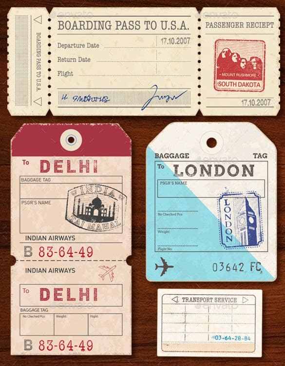 world luggage tags psd format download