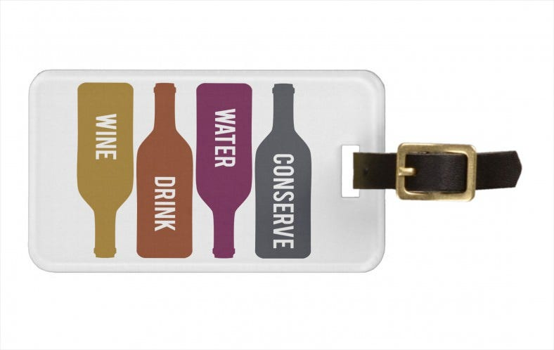 conserve water drink wine tags for luggage 788x498