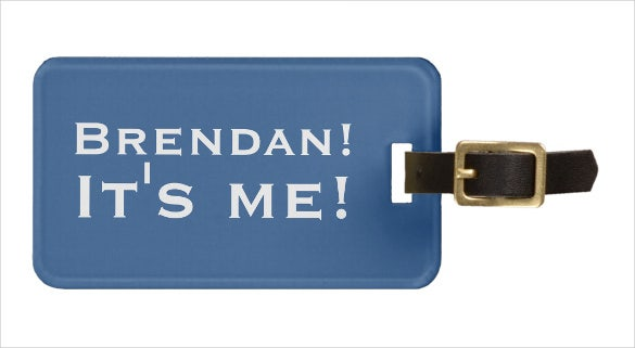 name custom luggage tag template