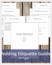 Wedding Etiquette Guide
