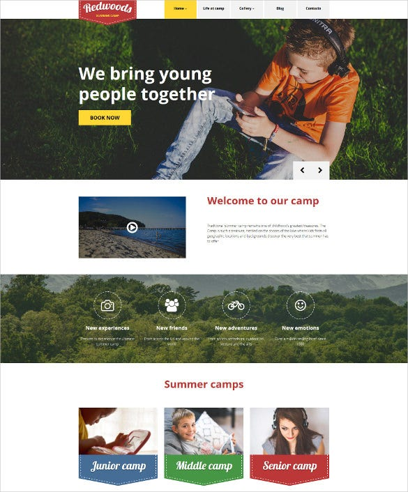 redwoods wordpress blog theme