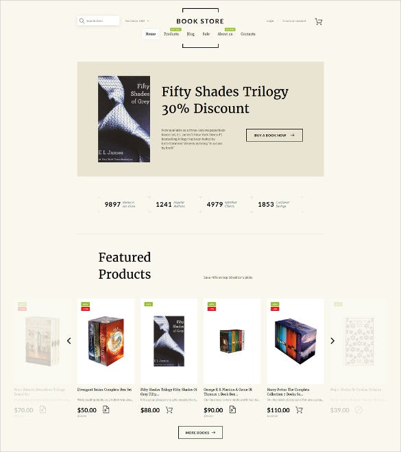 book shop shopify blog theme