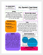 Classroom Newsletter Template. Classroom Newsletter Examples  Example Of Newsletter Templates