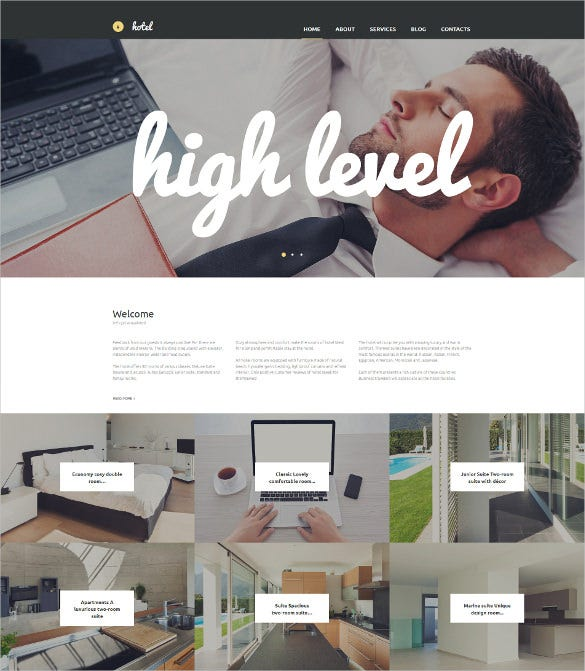 hotels responsive moto cms 3 blog template