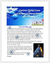 daycare christmas newsletter