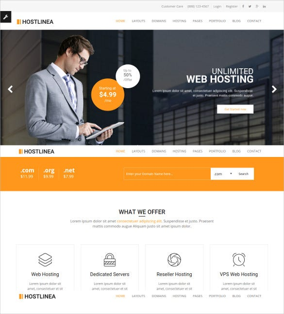 17 hosting html5 themes templates free premium. Black Bedroom Furniture Sets. Home Design Ideas