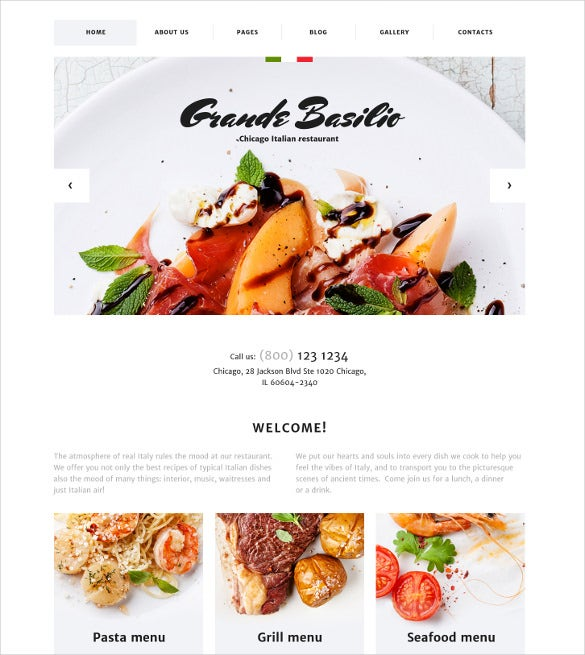 cafe and restaurant responsive joomla blog template