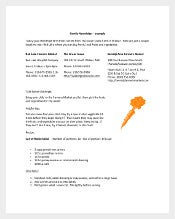 family newsletter template Sample
