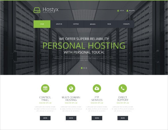 reliable hosting company wordpress html 5 theme
