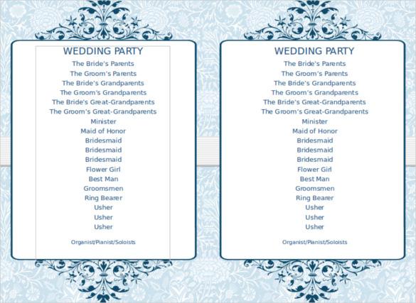 Wedding Program Template 41 Free Word Pdf Psd Free Programs  Programs Templates Free