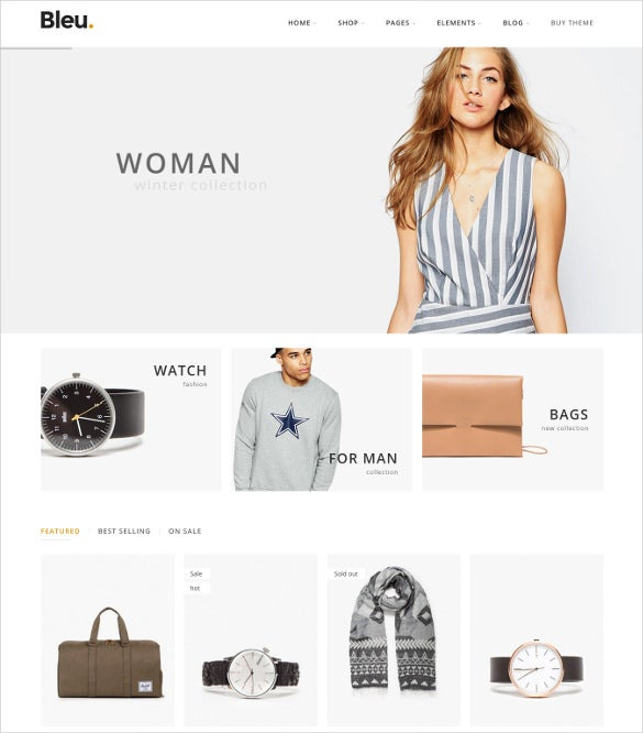 bleu fashion responsive woocommerce blog theme