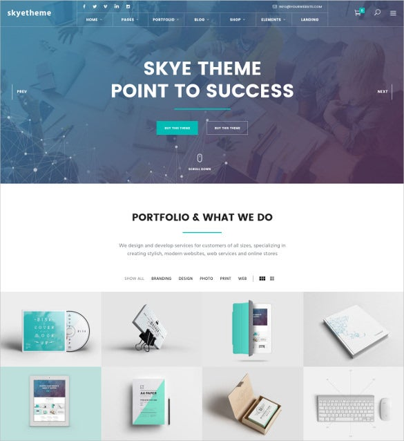 skye a contemporary blog theme for creative business