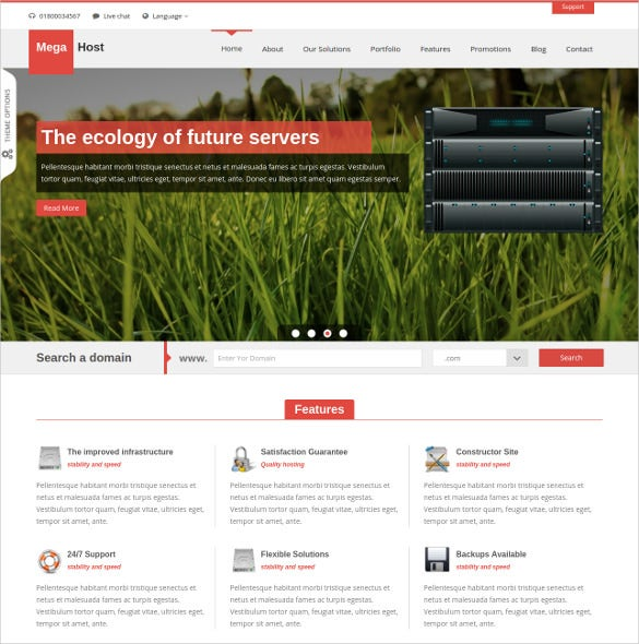 html 5 hosting template