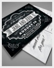 Black Vintage Wedding Invitation