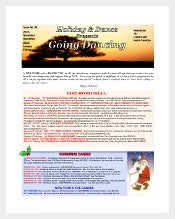 holiday and dance newsletter