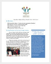holiday business newsletter