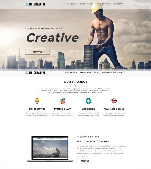 nt creative wordpress blog theme