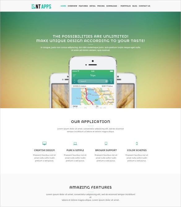 nt app wordpress blog theme