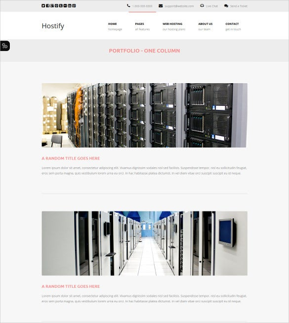 html5 hosting responsive template