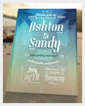 Beach Style Wedding Invitation Card