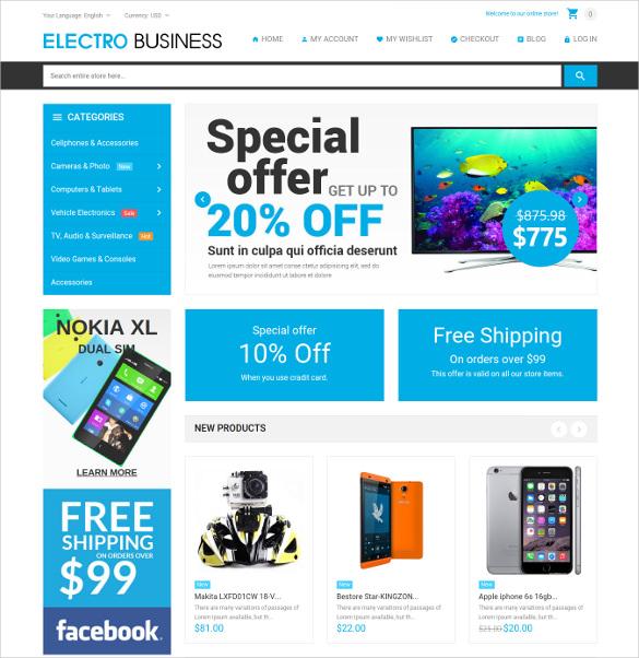 electronics magento blog theme