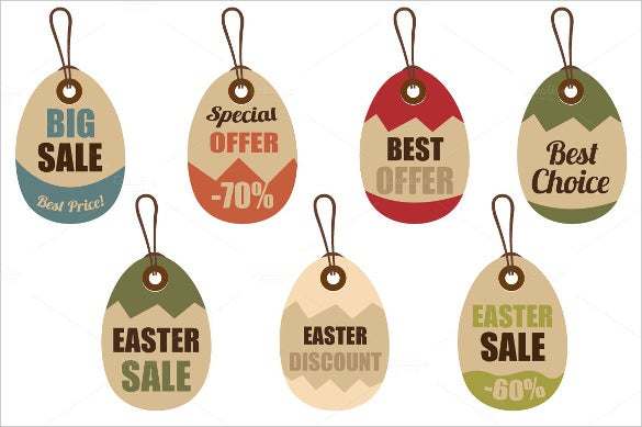 easy editable easter price tags