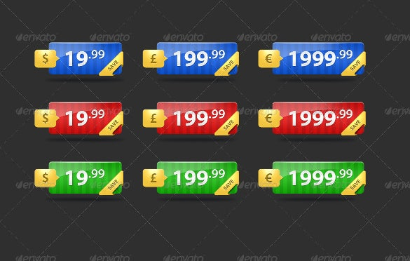 fancy ecommerce price tags psd format