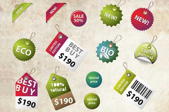 price labels and badges template download