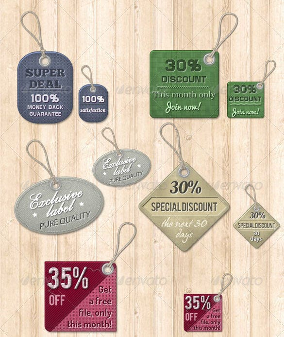 12 vintage price tags template download