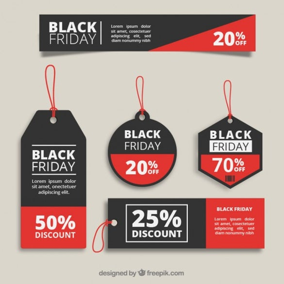 black friday price tags collection template