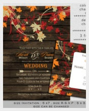 Printable Letterts Fall Wedding Invitation
