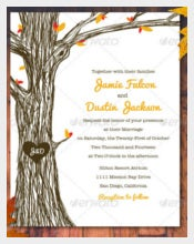 Fall Autumn Wedding Invitation Set