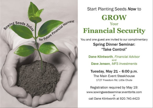 Invitation for a Financial Seminar for a Financial