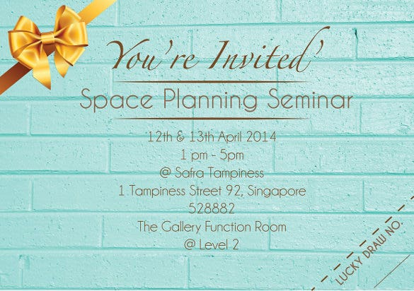 Space Planning Seminar Invitation Card