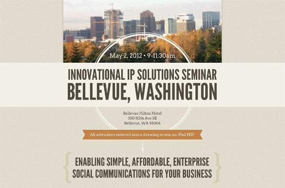 IP Solutions Seminar Email Invitation
