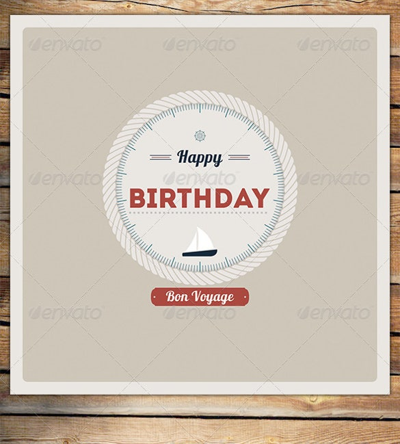 rope circle birthday card