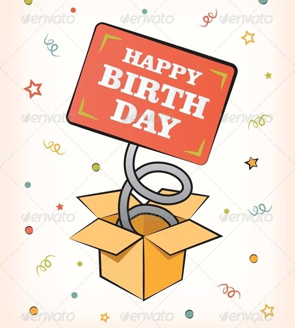 birthday card vector eps