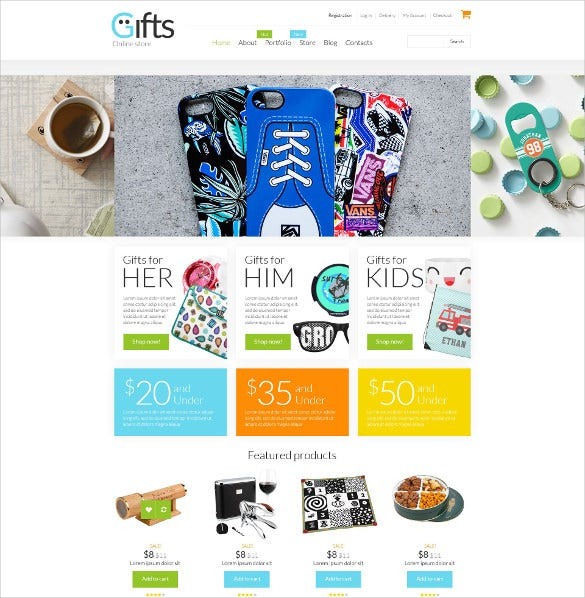 gifts shop woocommerce ecommerce html5 theme