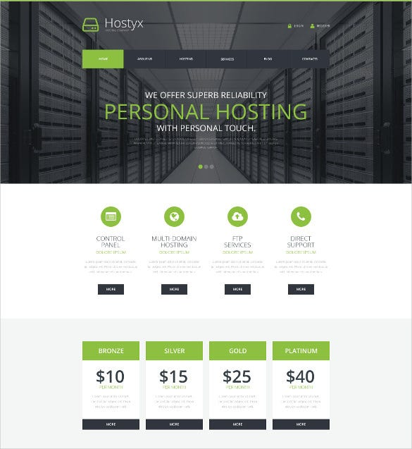 reliable hosting bootstrap wordpress theme
