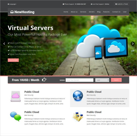 responsive hosting bootstrap css3 html 5 theme